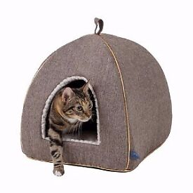 Luxury Collection Tweed Cat Igloo Bed Pets at Home RRP £28