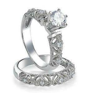 cz wedding sets - Ebay Wedding Ring Sets