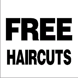 FREE MEN'S HAIRCUTS     (Wednesday 18th October)