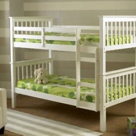 WHITE WOODEN BUNK BED**NEW**£199 WOW