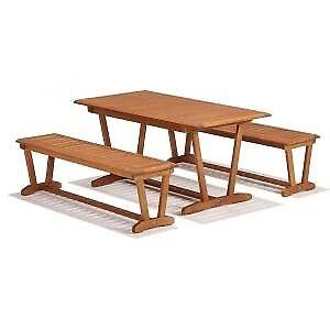 New John Lewis Venice Garden Table And Bench Furniture Eucalyptus