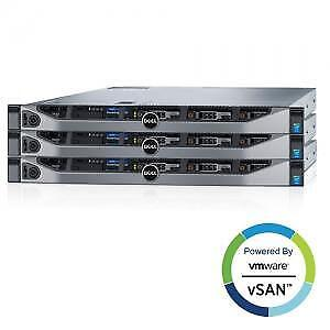 3 X Dell Recertified PowerEdge R630 Servers + VMware VSan Solution
