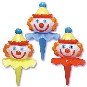 Oasis-Supply-Birthday-3D-Clown-Head-Decorating-Cupcake-Cake-Picks-2-1-2-Inch