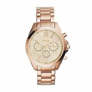 MONTRE FOSSIL CHRONOGRAPHE or rose FEMME ***NEUVES***