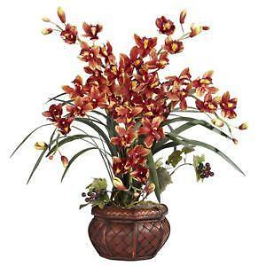 Silk orchids floral decor ebay silk orchid plants mightylinksfo Image collections