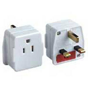 US USA to UK Plug Travel Adaptor/Converter import NEW