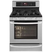 LG LRG3095ST Freestanding Gas Range, 30 in 5 Sealed Burners