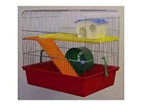 USED TWO TIER HAMSTER CAGE.