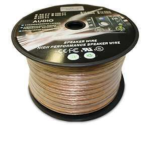 SPEAKER WIRE ( 100 FT ROLL CLEAR FLEXIBLE by EXTREME )