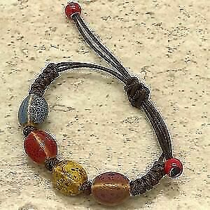 Multi-Coloured Pottery Bracelet
