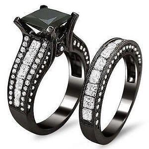 Black Princess Diamond Engagement Ring
