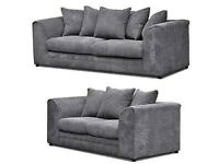Brand new jumbo cord sofa grey left & right 3+2 always in stock