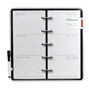 Whiteboard agenda weekly planner