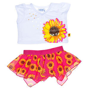 Build A Bear Sunflower Skirt Outfit 2 pc.