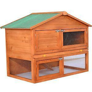 Chicken coop poultry ebay for Outdoor rabbit hutch kits