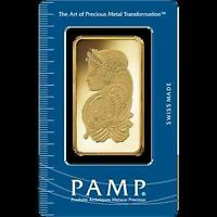 Pamp Suisse Gold 1 oz Bar, 100 Gram Bar, 10 gram, 5 gram, 2.5 gr