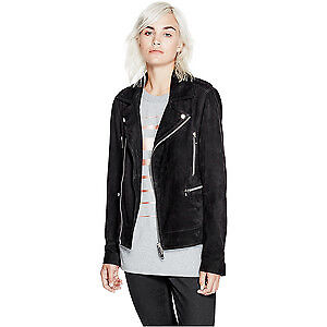GUESS Suede Leather Biker Jacket