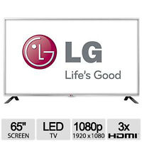 "SALE ON BRAND NEW LG 65"" 1080P SMART LED TV MCI 480 HZ 1 YR WTY"