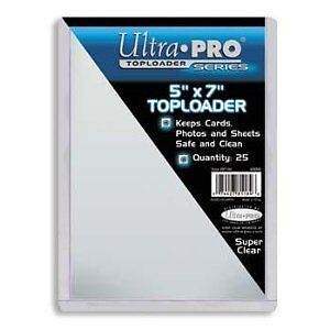 "Ultra Pro .... 5"" x 7"" .... TOP LOADERS"