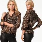 Leopard Chiffon Shirt