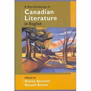 A New Anthology of Canadian Literature in English