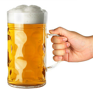 Plastic-Beer-Stein-2-Pint-1ltr-German-Beer-Stein