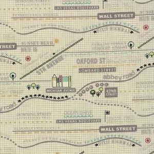 World Map Fabric Windham. Road Map Fabrics Fabric  eBay