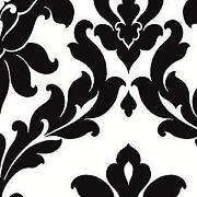 White Damask Wallpaper