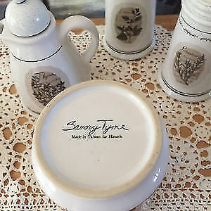 """""""Savory Tyme"""" Ceramic Set by Himark West Island Greater Montréal image 2"""