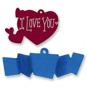 Sizzix Sizzlits Die - Tag #4 HEART & BANNER - $5