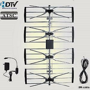 Weekly promo! 4 bay HDTV Antenna with amplifier, Electronic Master ANT2092, $49.99(was$59.99)