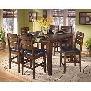 Ashley - Dining Table & Chairs, Counter Height