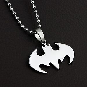 New Stainless Steel Superman Or Batman Ring And Necklace Set Windsor Region Ontario image 2
