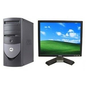 "Dell Complete PC Setup with 4GB RAM & 160GB storage with 17"" LCD"
