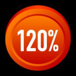 120% interest