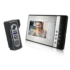TOMTOP 7-Inch Video Door Phone Doorbell Intercom Kit
