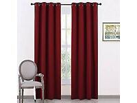 Beautiful burgundy thermal insulated curtains