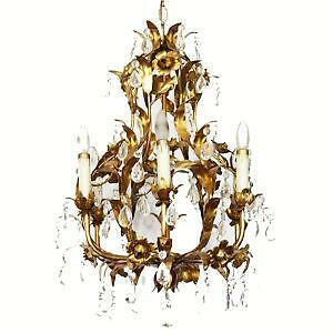 Tole chandelier ebay tole flower chandelier mozeypictures Image collections