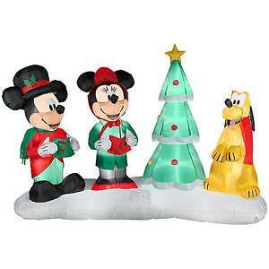 disney christmas inflatables - Mickey Mouse Christmas Lawn Decorations