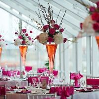 """Tall Reversible Glass Vases Wedding Centerpieces 32"""" 40"""" Sale"""