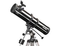 Skywatchers Explorer BK 1309 EQ2 Newtonian Reflector telescope.