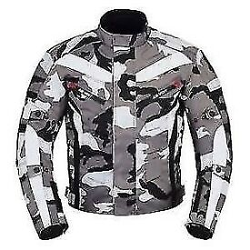 Gear Camo Motorcycle Motorbike Armour Textile Jacket CE Protector Biker
