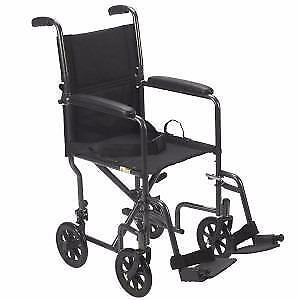Fauteuil de transport en acier de Drive - 175.99$ - Livraison gratuite - Neuf - Aucune taxes sur les chaises roulantes