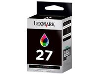 Lexmark colour printer cartridges, brand new in sealed packaging