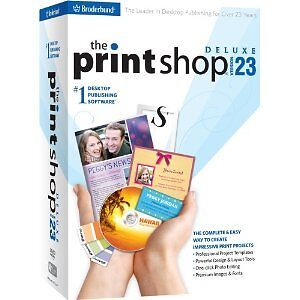 The PRINTSHOP 23 DELUXE #1 Desktop Publishing Software - Print Shop - BRAND NEW!