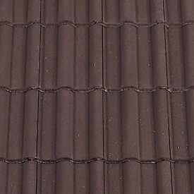 ROOF TILES x84 - RECLAIMED - REDLAND TYPE-50 - DOUBLE ROMAN M in GOOD CONDITION