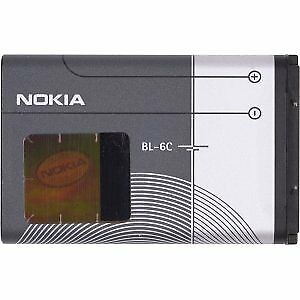 BRAND NEW, Genuine NOKIA OEM BL-6C or BL6C Cell Phone Battery