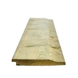 Shiplap treated timber