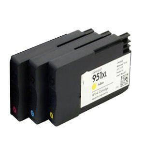 H P 951XL Color High Yield Compatible New Cartridge (Each Color)