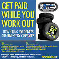 GET PAID TO WORK OUT! NOW HIRING DRIVERS & INVENTORY ASSISTANTS!